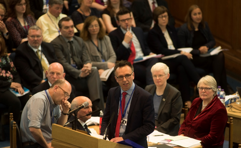 Rev Neil Glover, convener of the Ministries Council delivered the report to the General Assembly