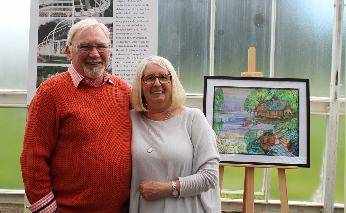 Bob Carmichael (a participant) and his wife Ann, from CrossReach's Heart for Art project