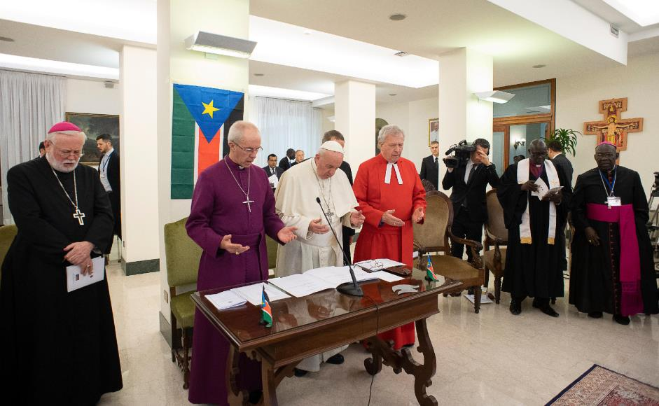 Justin Welby John Chalmers Pope Francis