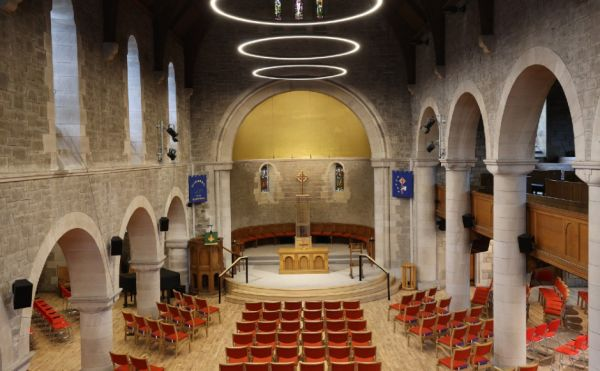 View of the nave of St Columba's