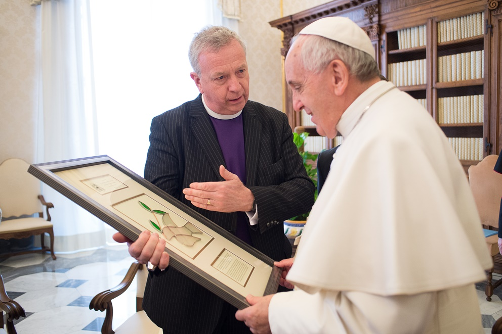 John Chalmers with the Pope