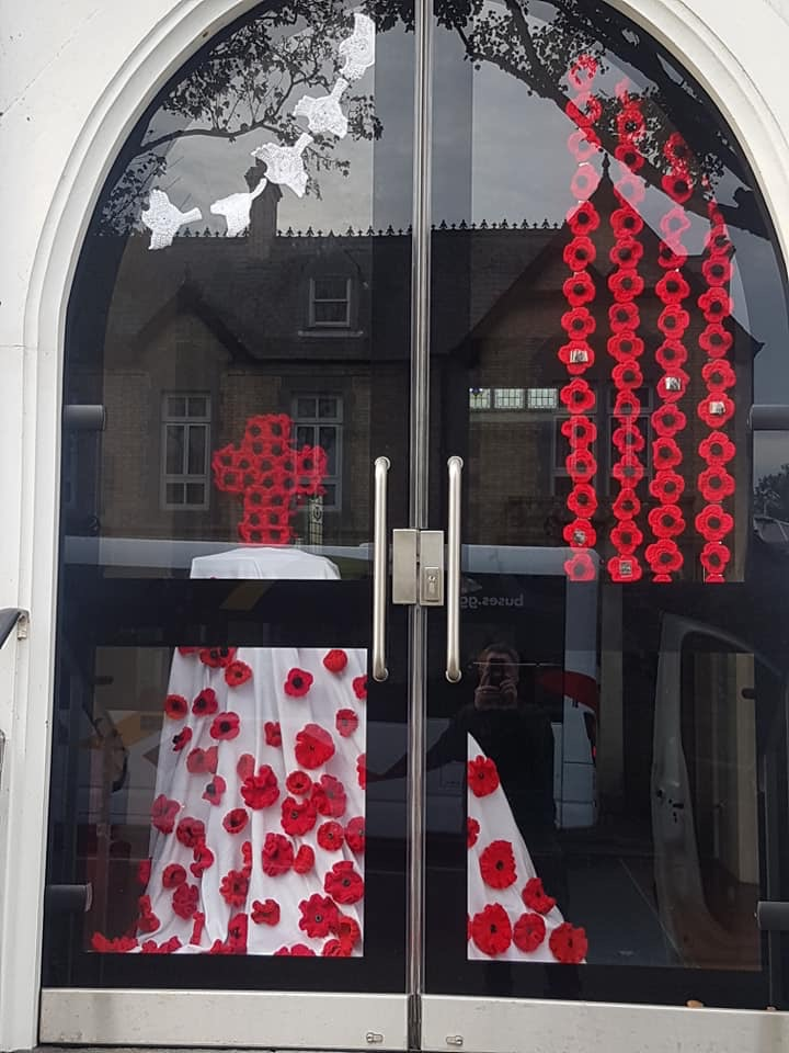 St Andrews Church in the Grange in Guernsey's poppy display