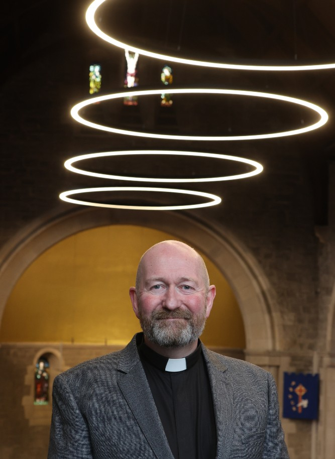 Rev Fergus Cook was ordained and inducted the day before lockdown