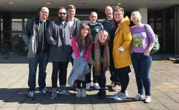 The group of youth workers from St Paul's Youth Forum in Iceland