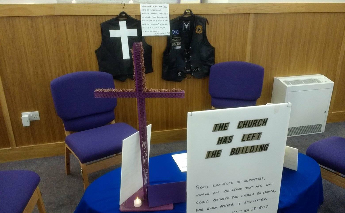 A prayer station at West Kilbride Parish Church. All members of the Presbytery of Ardrossan were encouraged to come along. A short service of prayer was also held in the evening.