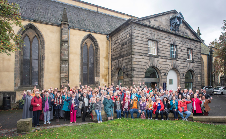 A group photo of the congregation of Greyfriars