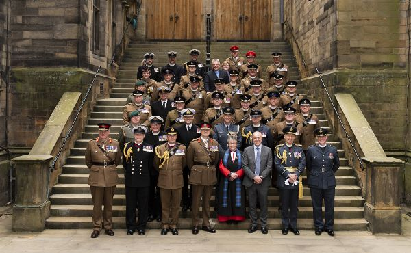 The Moderator, Rt Rev Susan Brown, joins Chaplains of her Majesty's Forces (including the Royal Navy, the British Army and the Royal Air Force) at the General Assembly 2018.