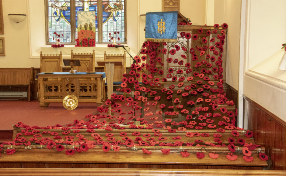 Inchture Church display