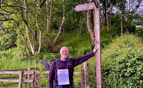 Rev Steve Clipston on his River Ayr Way fundraising walk